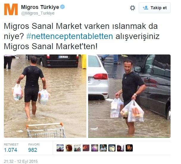 Migros Sanal Market - Sel Baskını