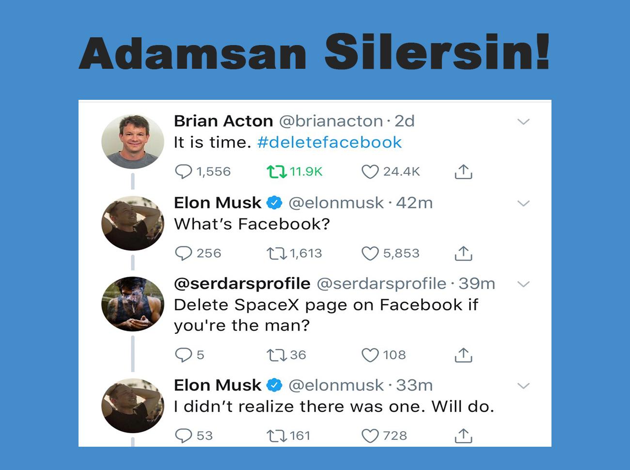"""Türk Takipçisinden Elon Musk'a İbretlik Facebook Çağrısı: """"Adamsan Silersin"""""""