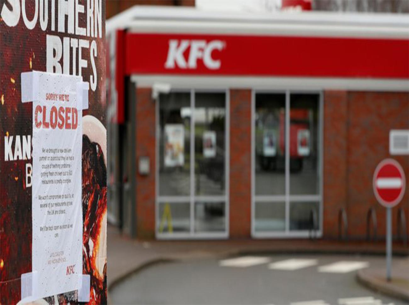 Tavuk Bitti: KFC İngiltere'deki Restoranları Kapattı