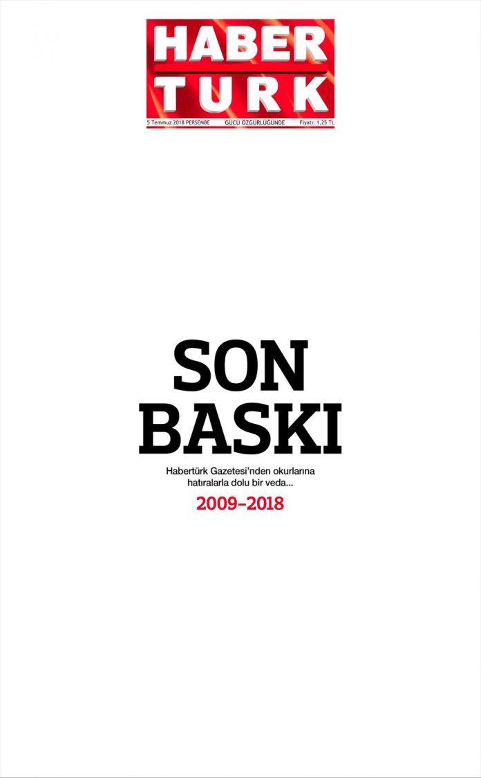 Habertürk Gazetesi Son Baskı