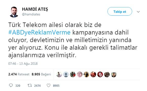 Hamdi Ateş Tweet