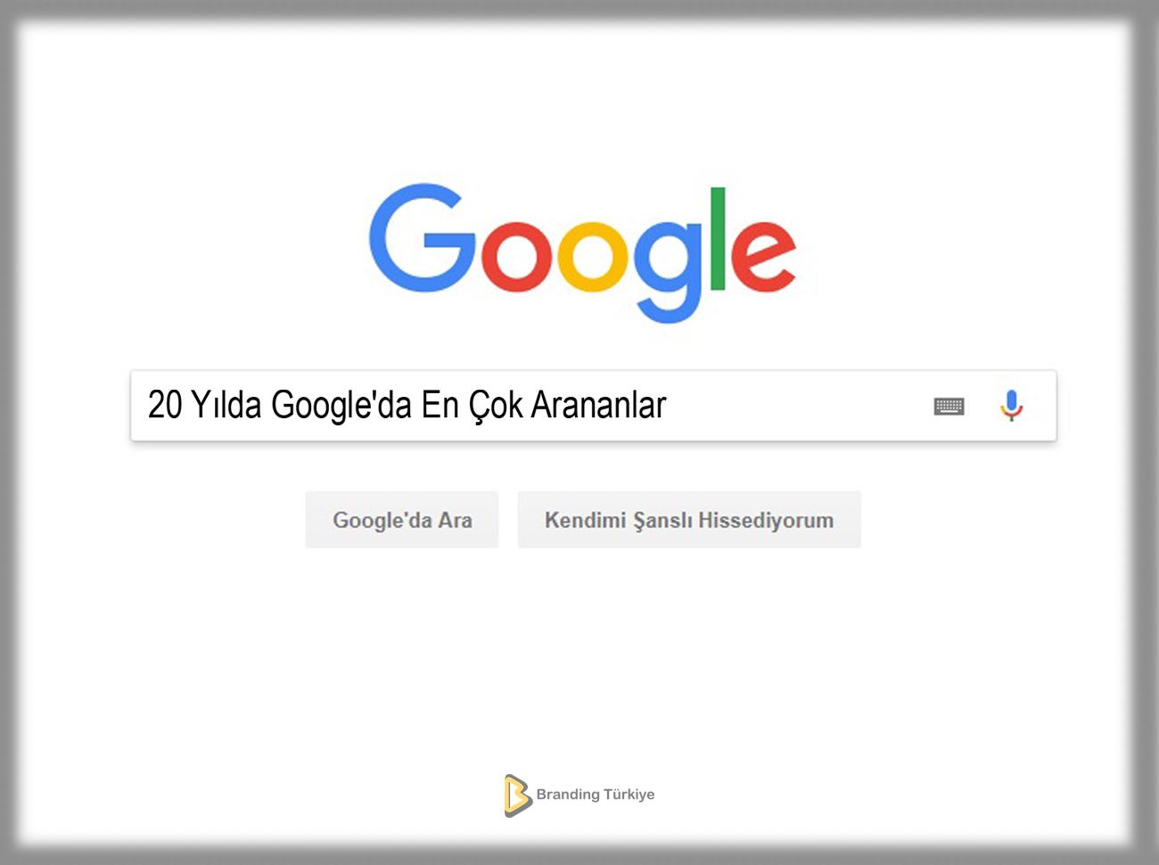 20 Yılda Google'da En Çok Arananlar