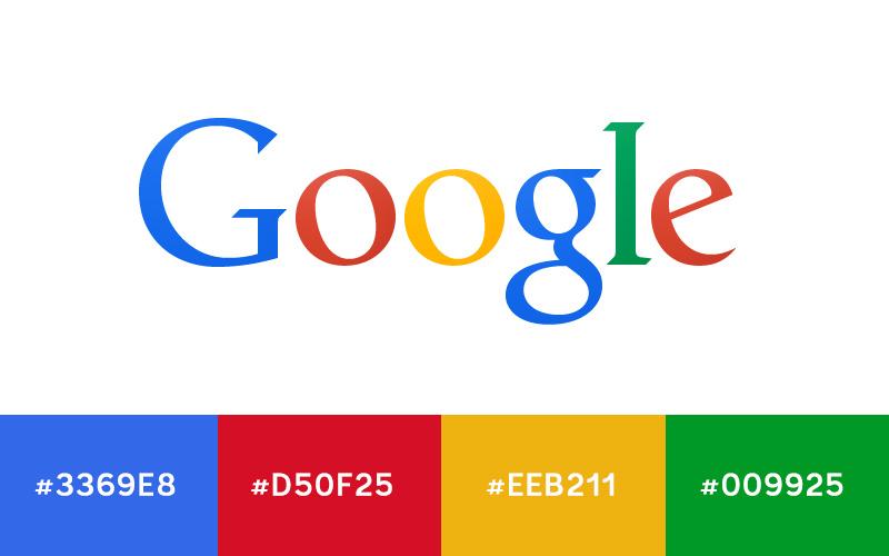 Google Logo Renk Kodları