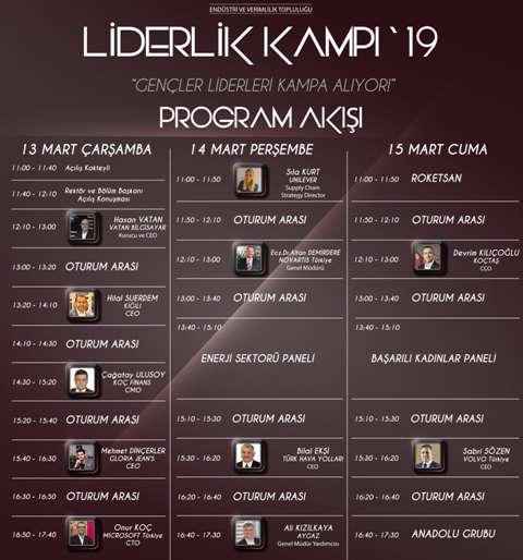 Liderlik Kampı Program Akışı (2019)