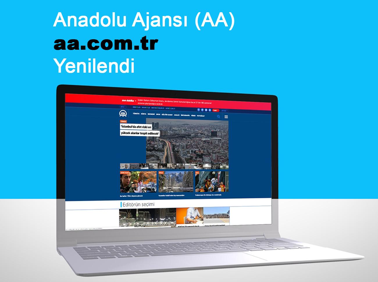 Anadolu Ajansı İnternet Sitesi Yenilendi