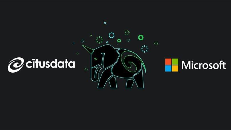 Microsoft Citus Data'yı Satın Aldı
