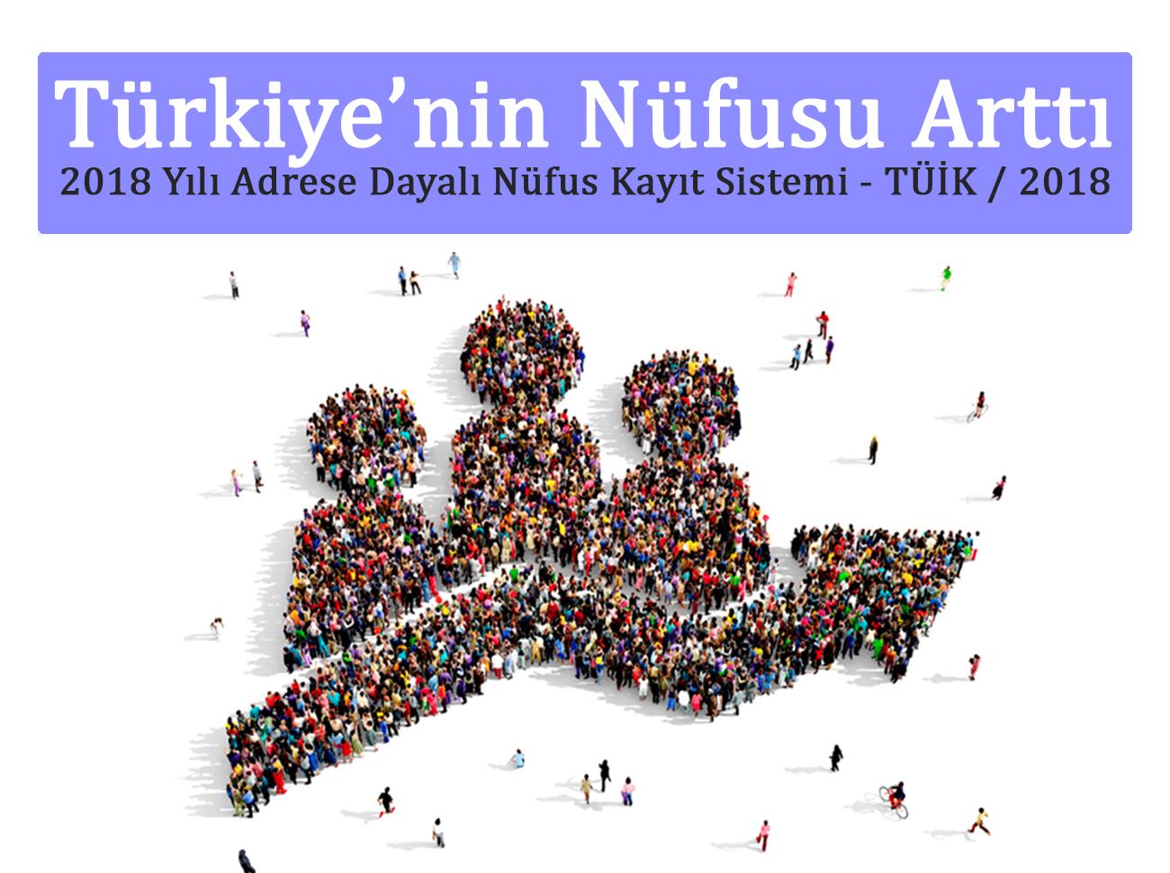 Türkiye'nin Nüfusu Açıklandı (TÜİK 2018)