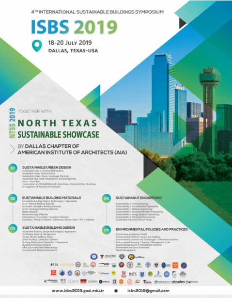 International Sustainable Buildings Symposium - ISBS - 2019 Afiş