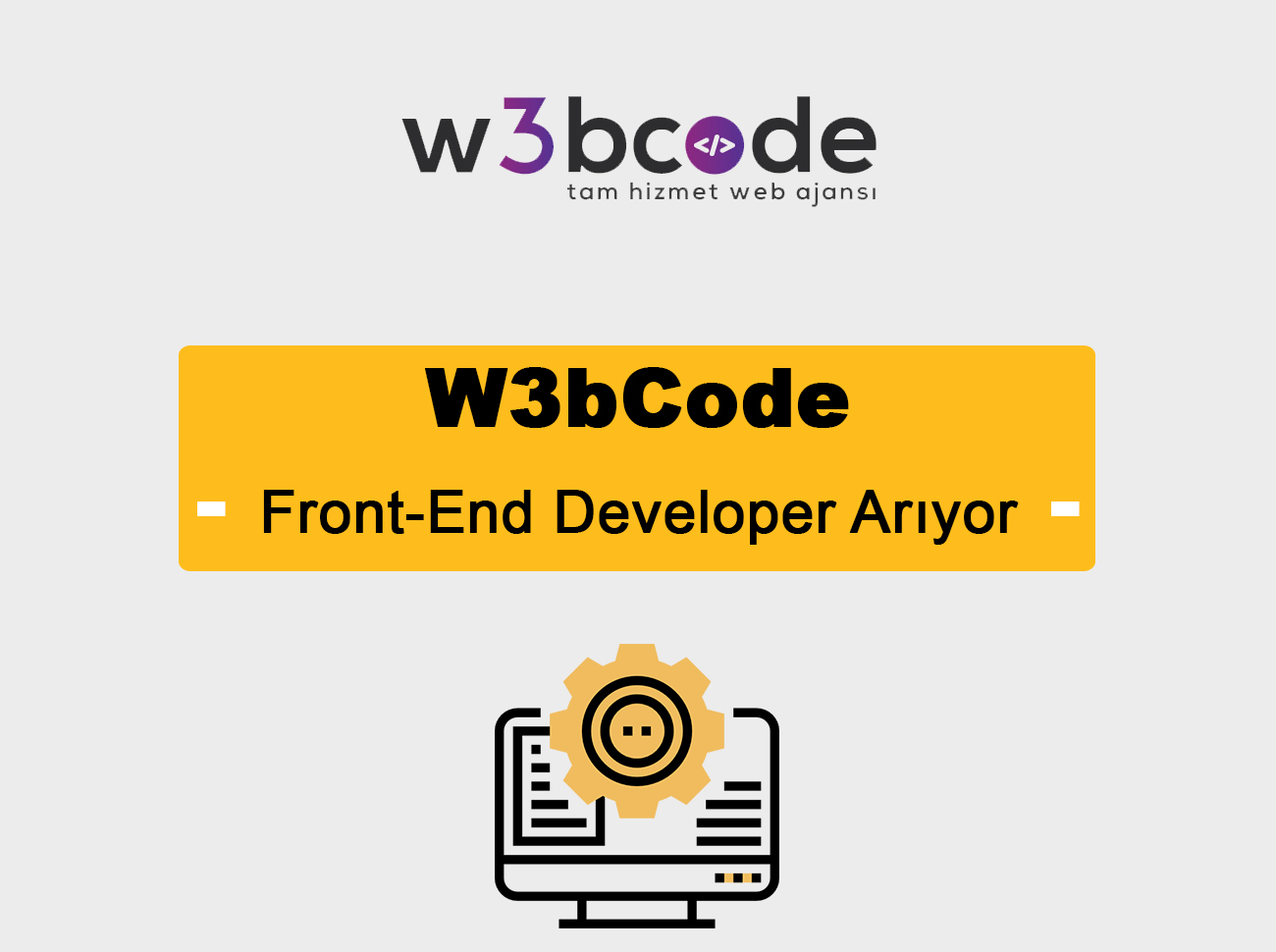 W3bCode Front-End Developer Arıyor