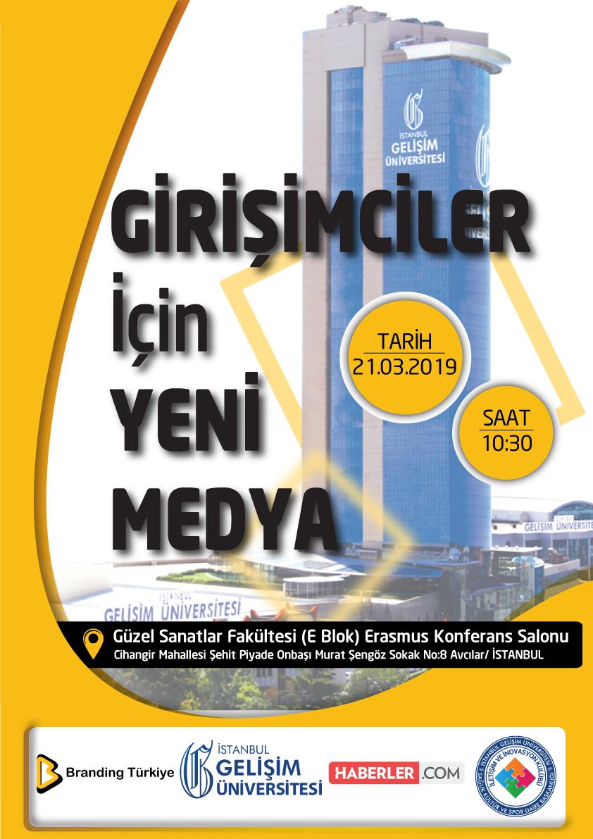 Girişimciler İçin Yeni Medya Etkinliği - Afiş