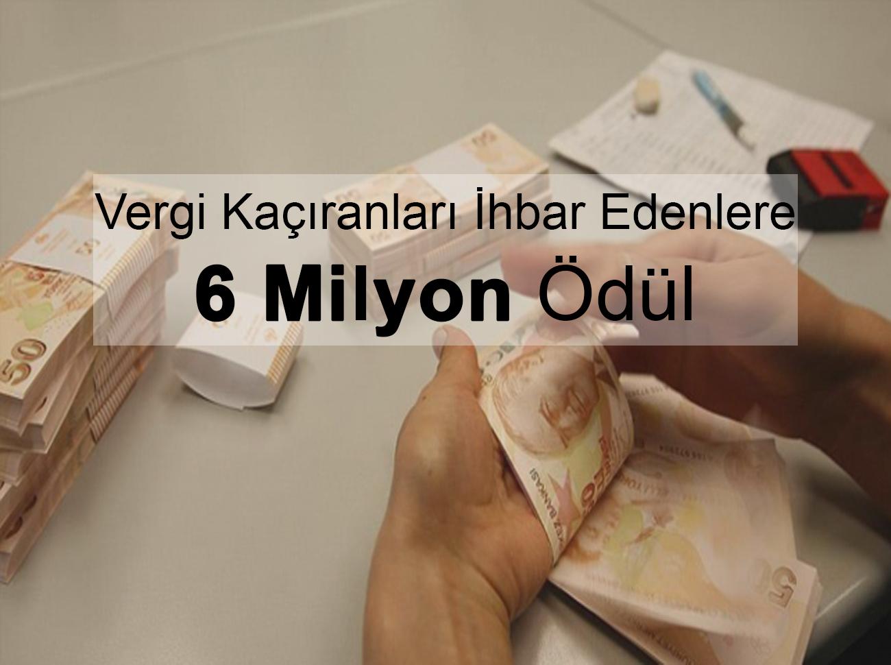 Vergi Kaçıranları İhbar Edenler 6,4 Milyon Kazandı