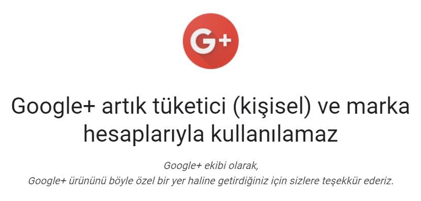Google Plus Teşekkür Metni