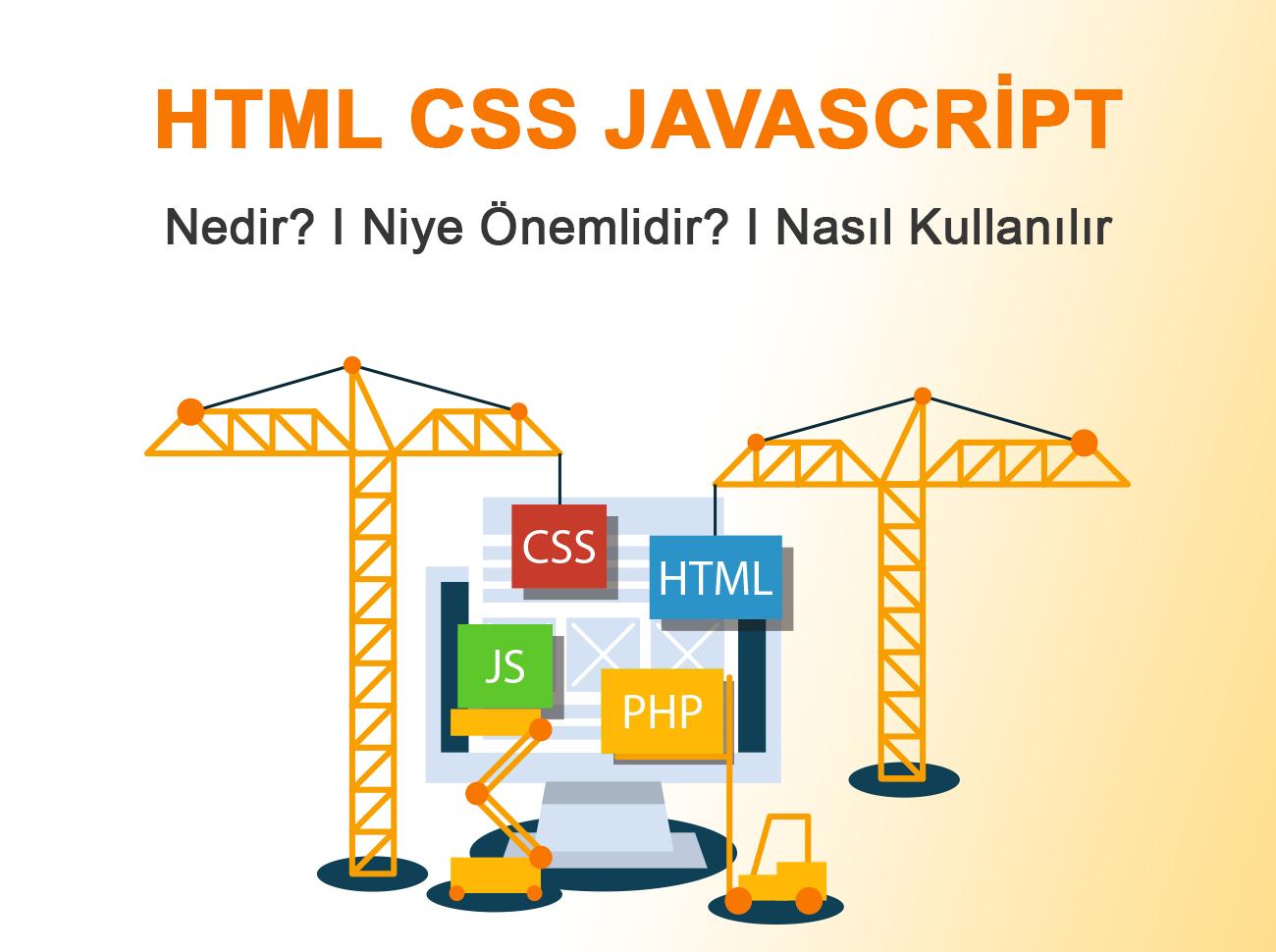 HTML, CSS, Javascript Nedir? Niye Önemlidir? Nasıl Kullanılır?