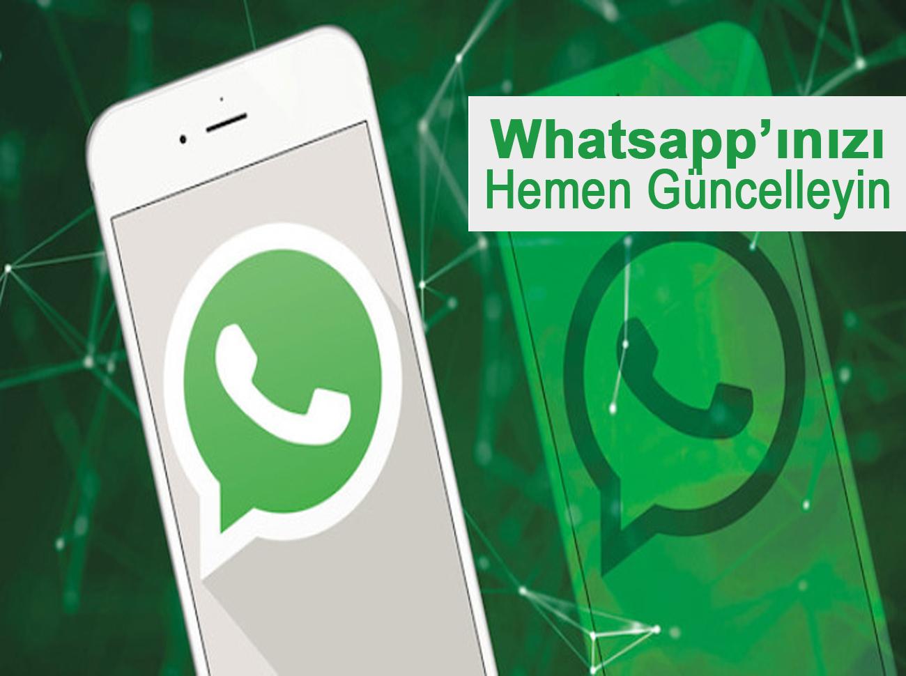 Casus Yazılıma Karşı Whatsapp'ı Güncelleyin