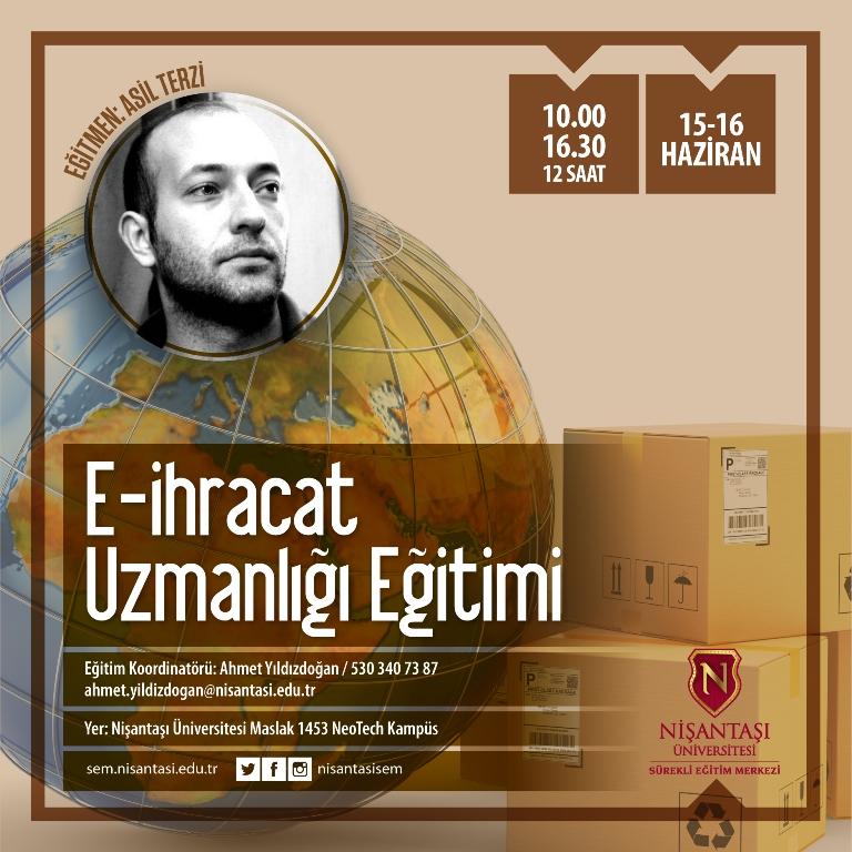 E-İhracat Uzmanlığı Eğitimi - Afiş