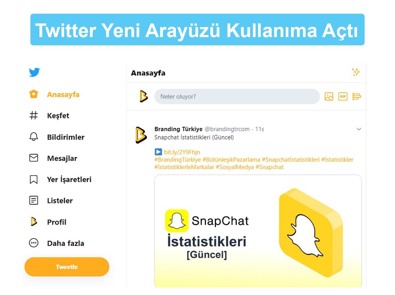 Twitter Yeni Arayüzü
