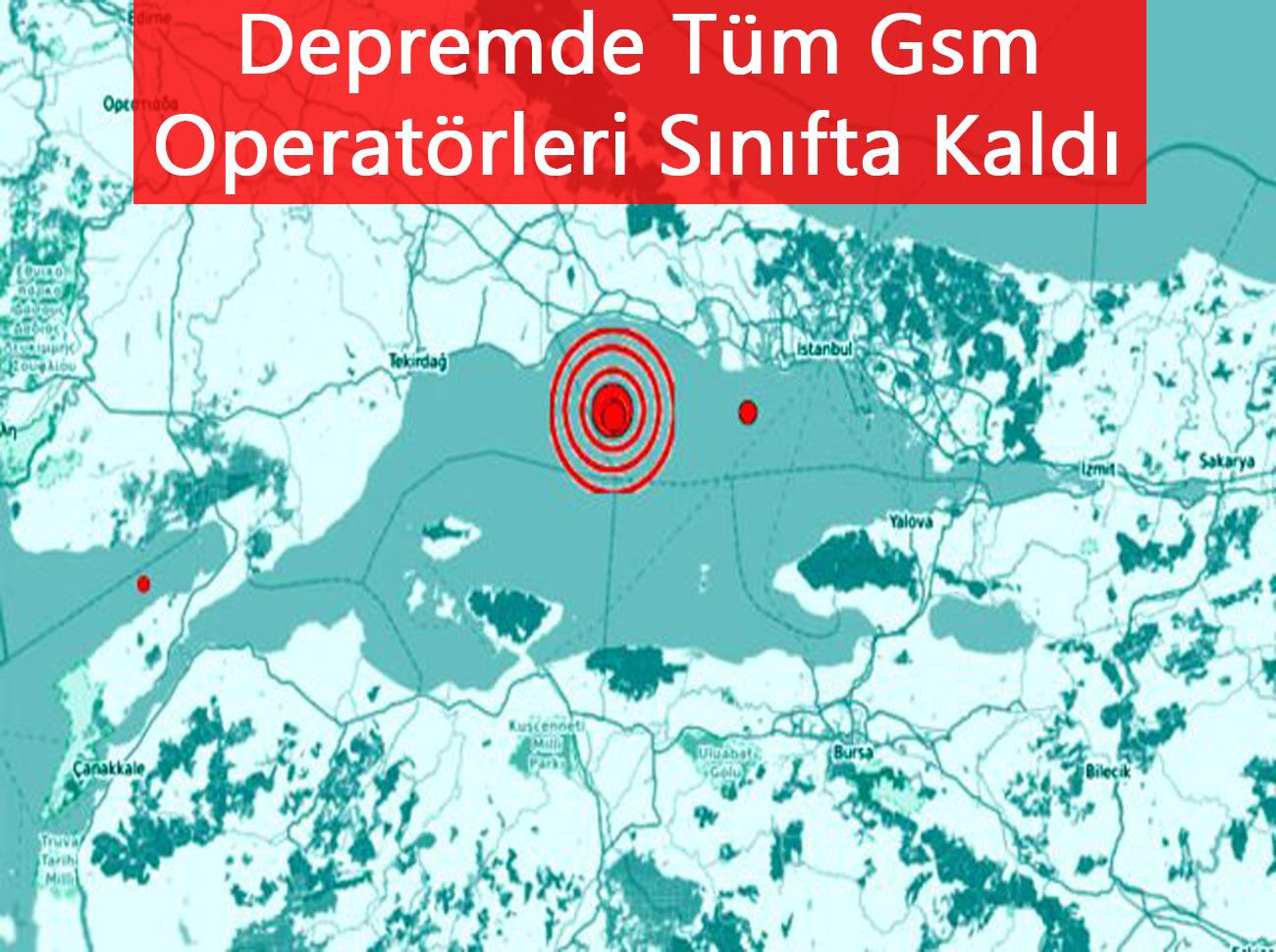 Depremde Tüm Gsm Operatörleri Çöktü