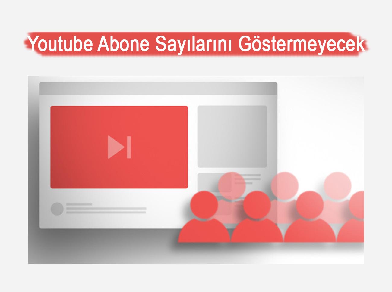 Youtube Abone Sayılarını Tam Olarak Göstermeyecek