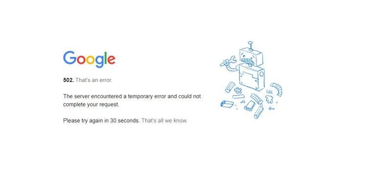 Google Servisleri Çöktü