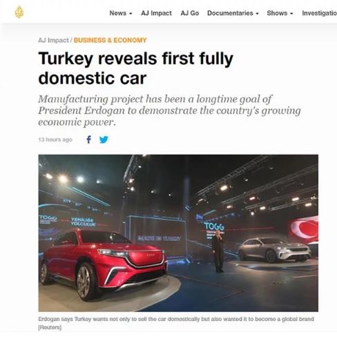 Türkiye'nin Otomobili El Cezire