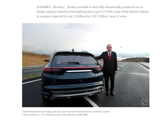 Reuters Yerli Otomobil Haberi