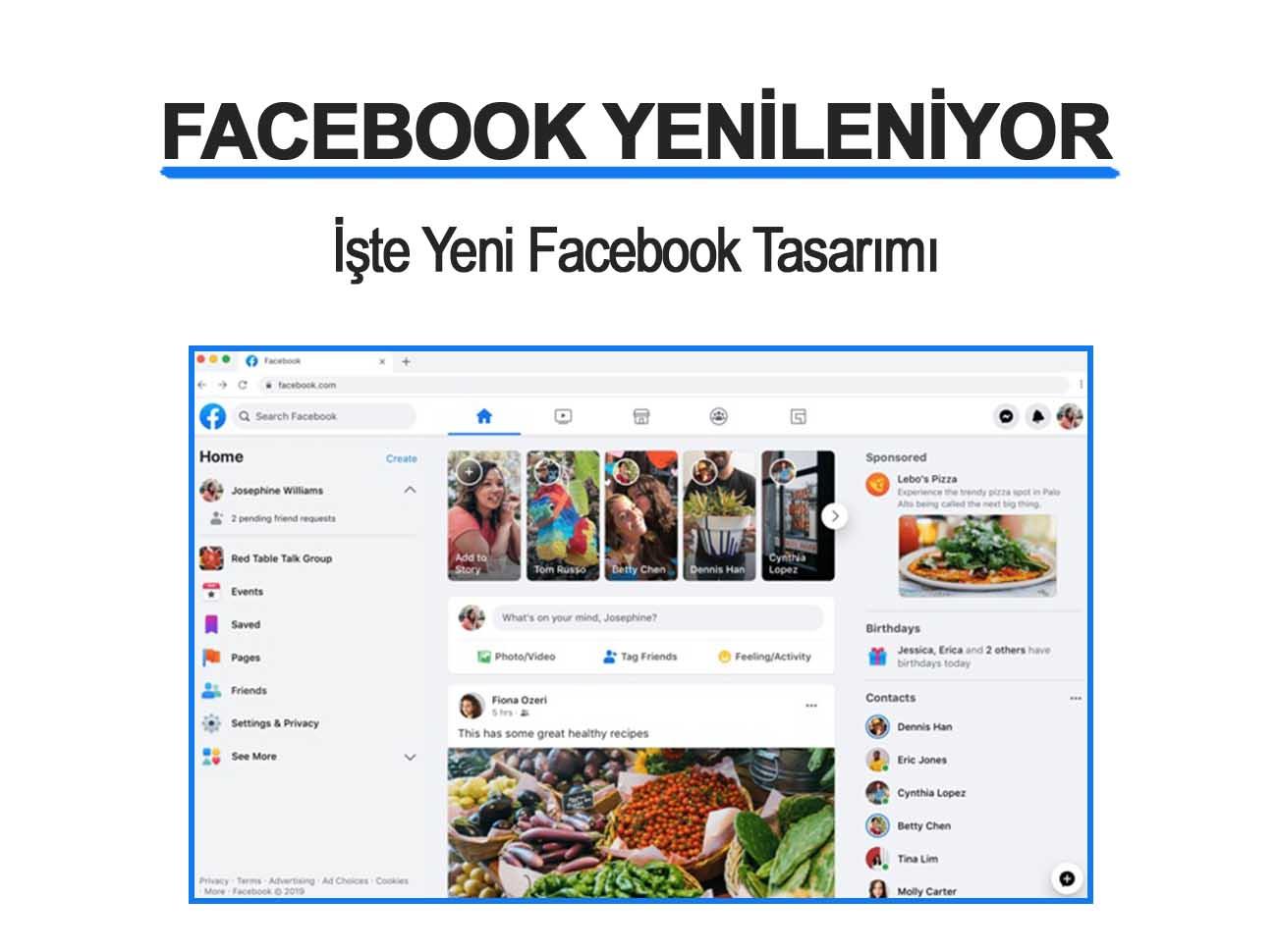 Facebook Yenileniyor İşte Yeni Facebook