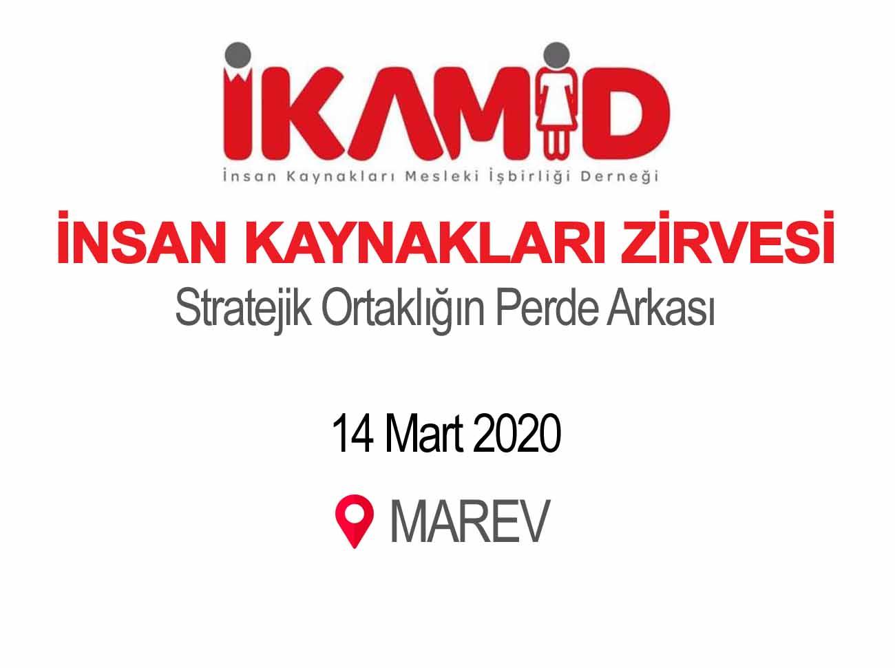 İKAMİD İnsan Kaynakları Zirvesi 14 Mart'ta