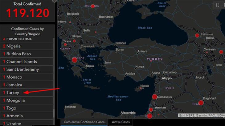 Corona Virüs Haritası Türkiye