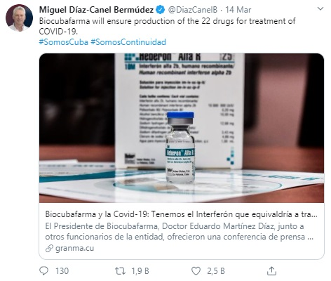 Küba Başkanı Corona Virüs