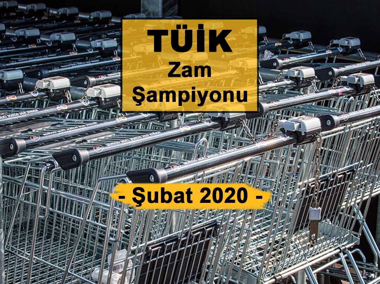 Şubat (2020) Zam Şampiyonu Kabak Oldu