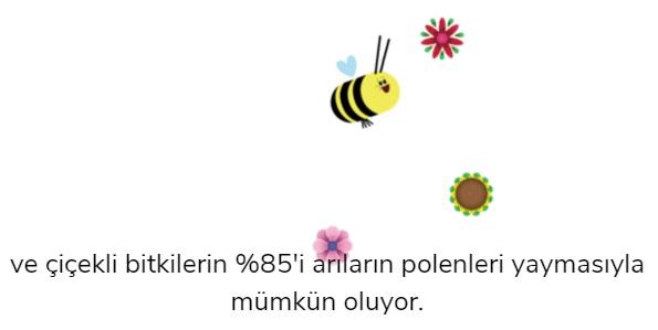 Arılar Ve Çiçekler Doodle