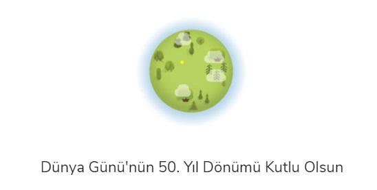 Google Dünya Günü 2020 Kutlu Olsun