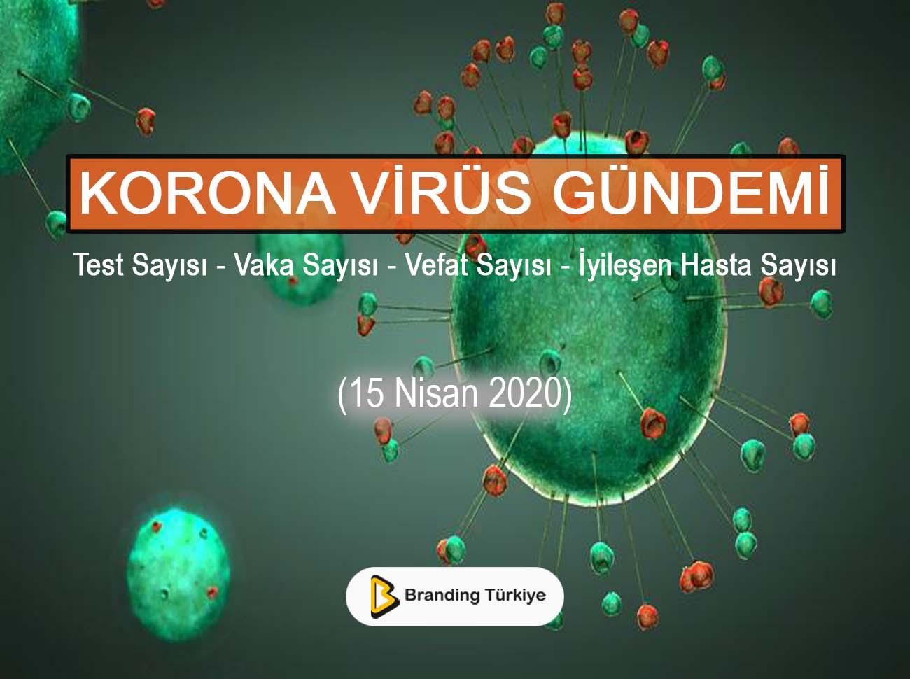 Korona Virüs Gündemi (15 Nisan 2020)