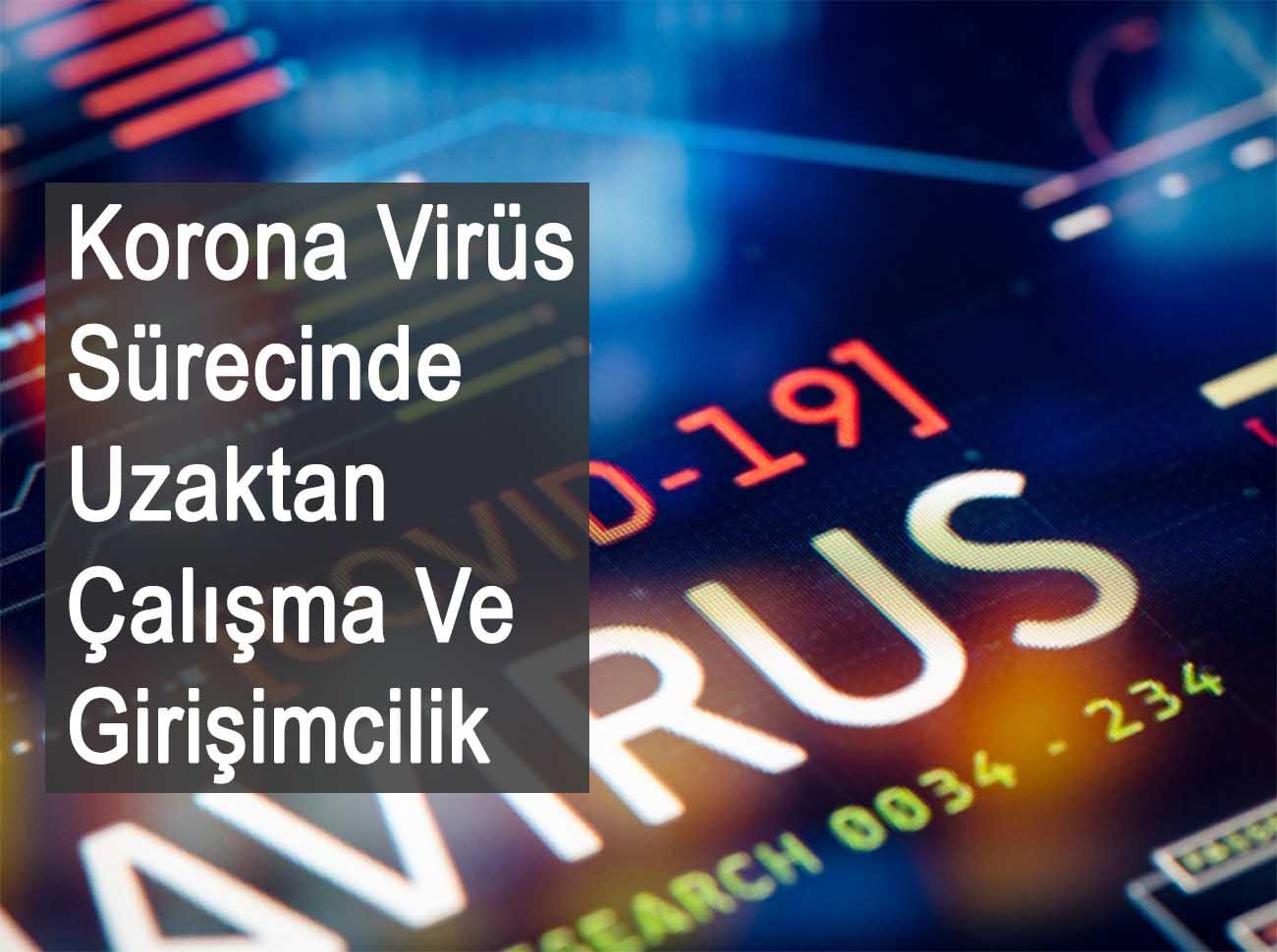 Korona Virüs Sürecinde Uzaktan Çalışma Ve Girişimcilik