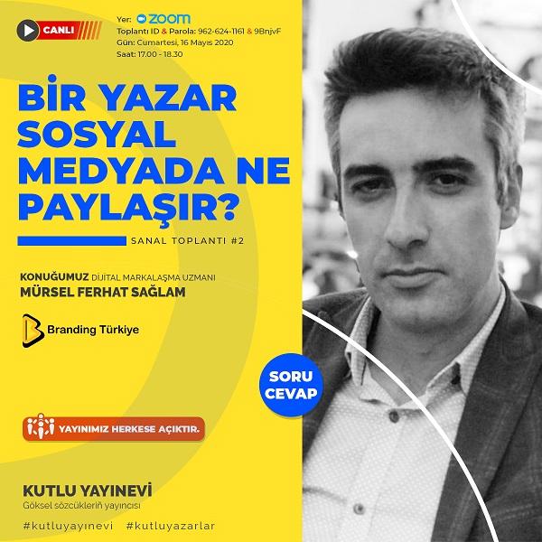 Bir Yazar Sosyal Medyada Ne Paylaşır Etkinliği - Afiş
