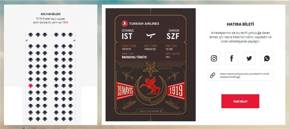 Tarihi Yolculuk Bilet - Branding Türkiye