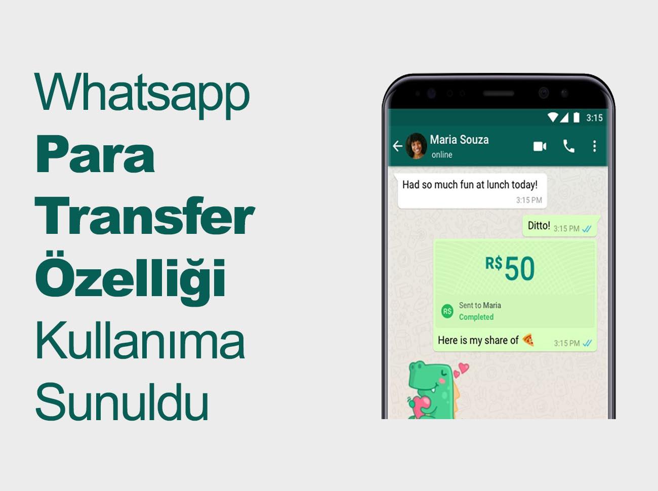 Whatsapp Para Transfer Özelliği