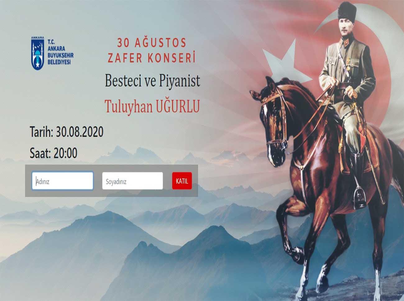 Ankara Büyükşehir Belediyesi'nden 30 Ağustos Zafer Konseri İçin Hatıra Bileti