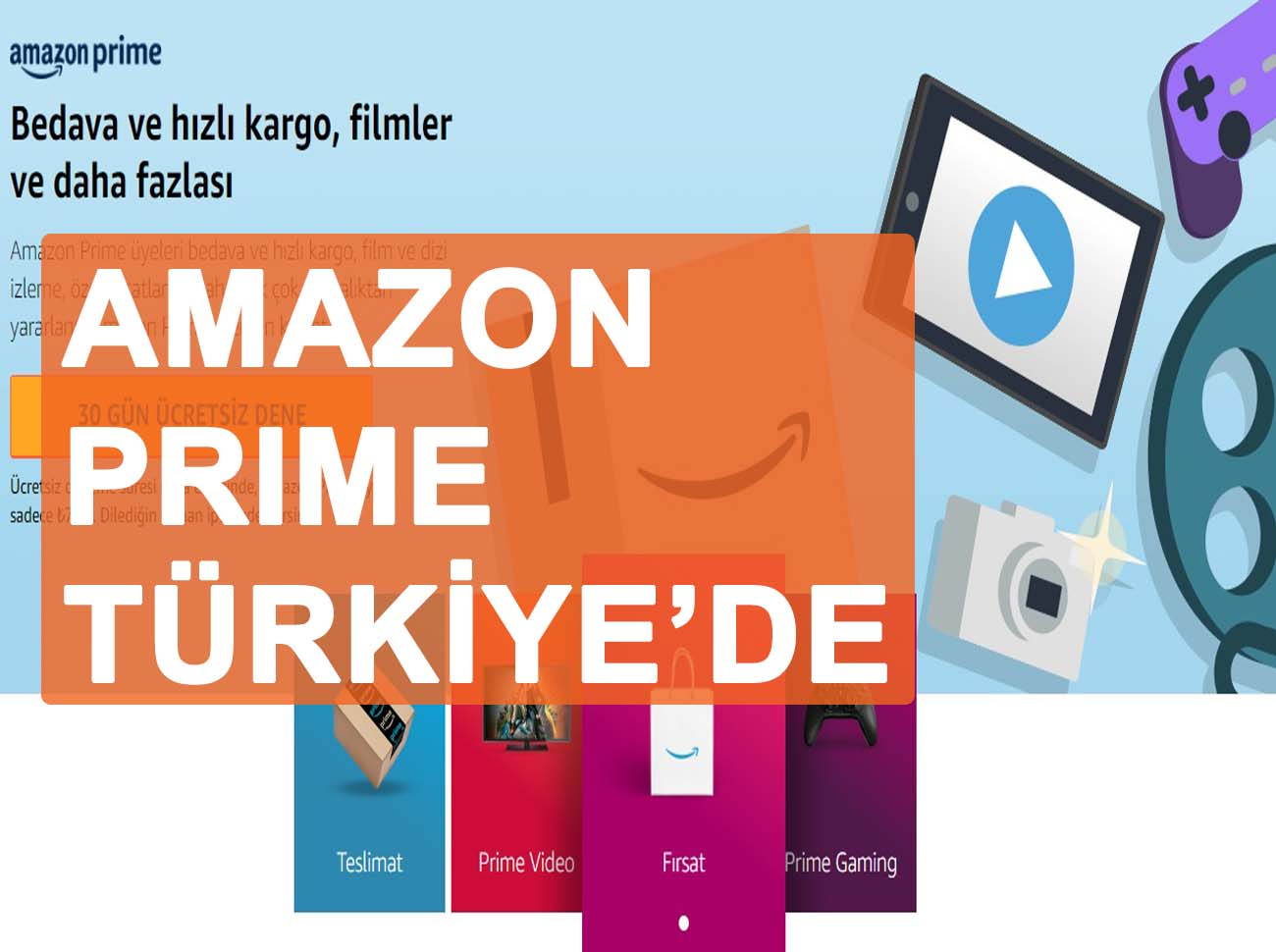 Amazon Prime Türkiye'de! Fiyatı Ve Avantajları