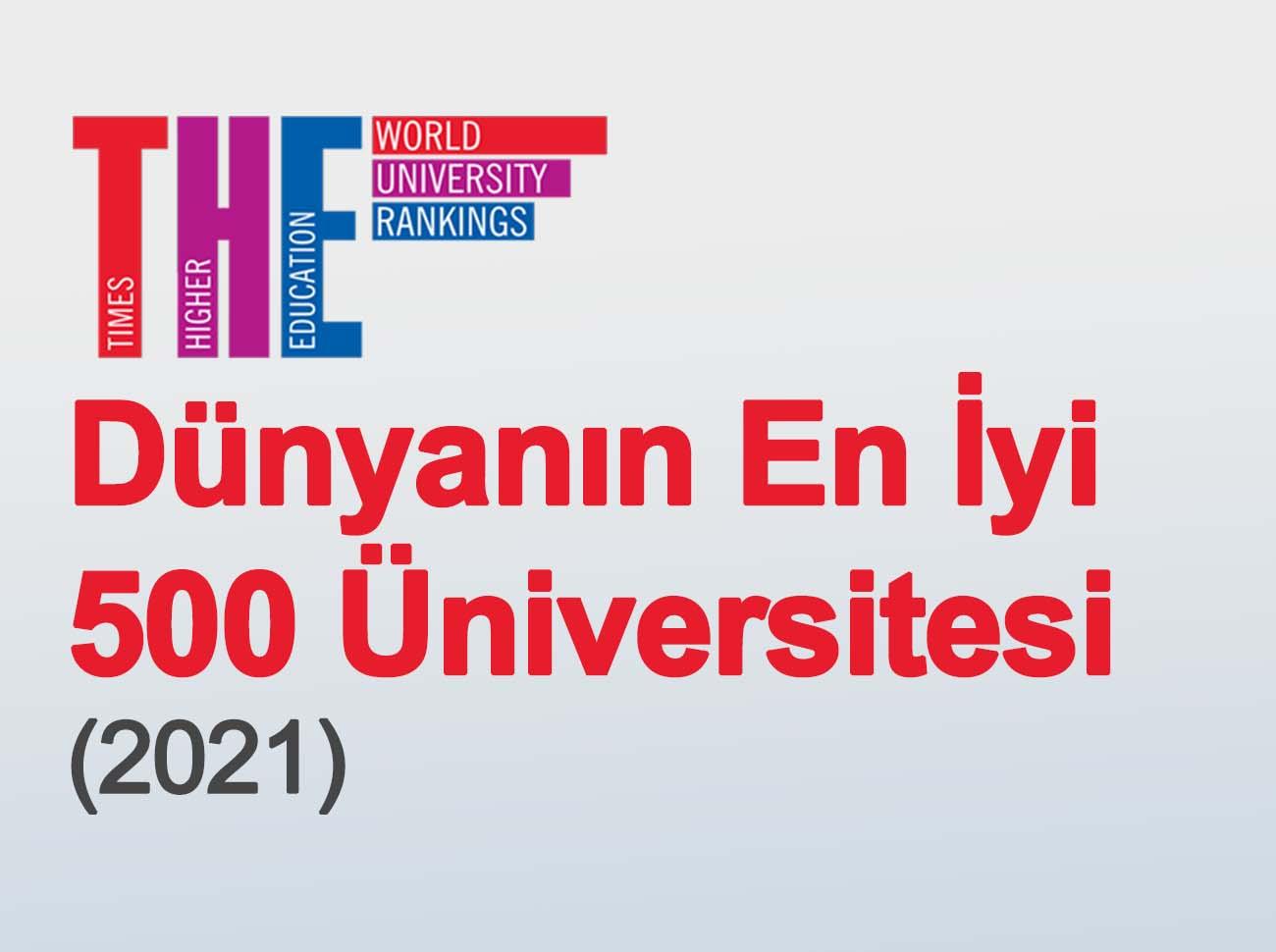 Dünyanın En İyi 500 Üniversitesi 2021