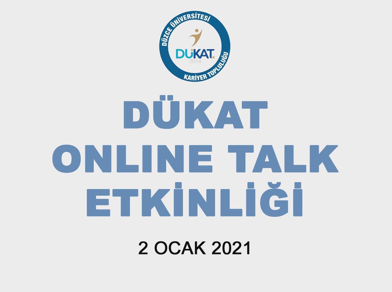 DÜKAT Online Talk İçin Geri Sayım