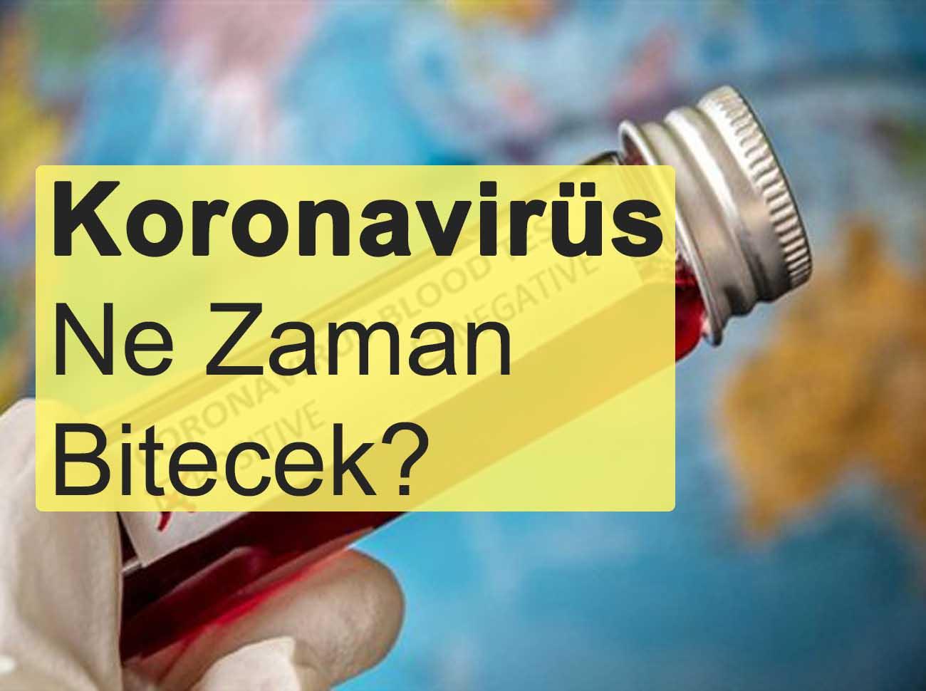 DSÖ Koronavirüs'ün Biteceği Tarihi Açıkladı