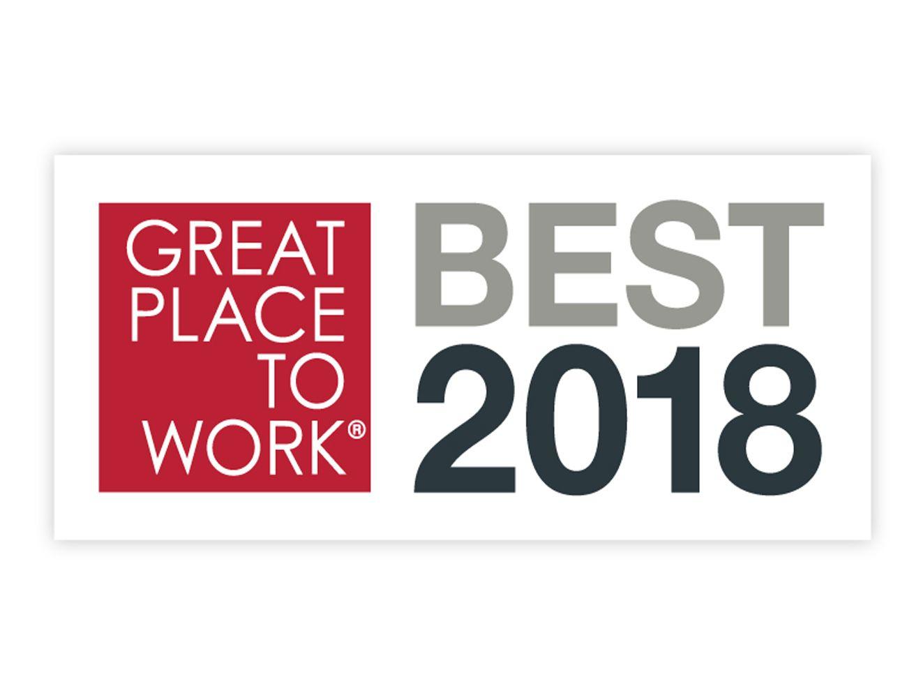 2018'in En İyi İşverenleri (Great Place to Work) Ödülleri