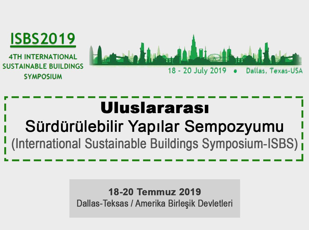 4. Uluslararası Sürdürülebilir Yapılar Sempozyumu (2019)