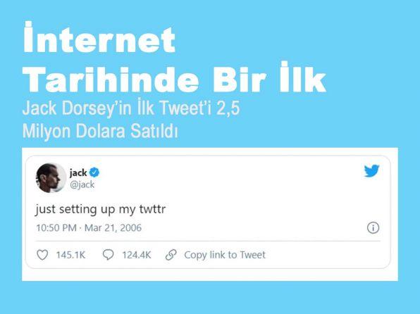 Jack Dorsey'in İlk Tweet'i 2,5 Milyon Dolara Satıldı