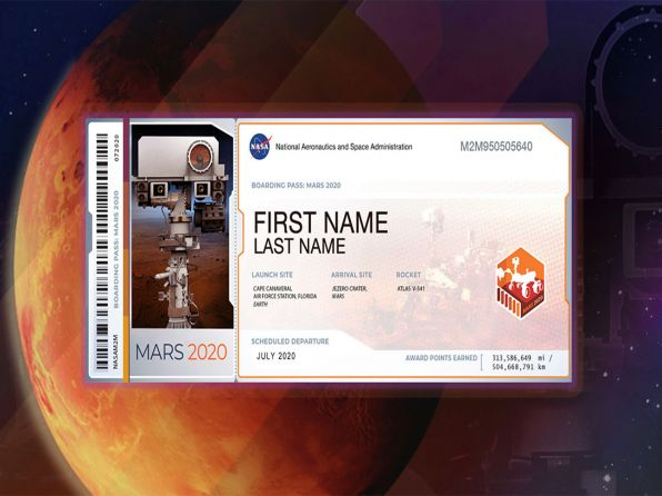 NASA'nın Mars 2020 Görevi İçin Adınızı Yazdırın